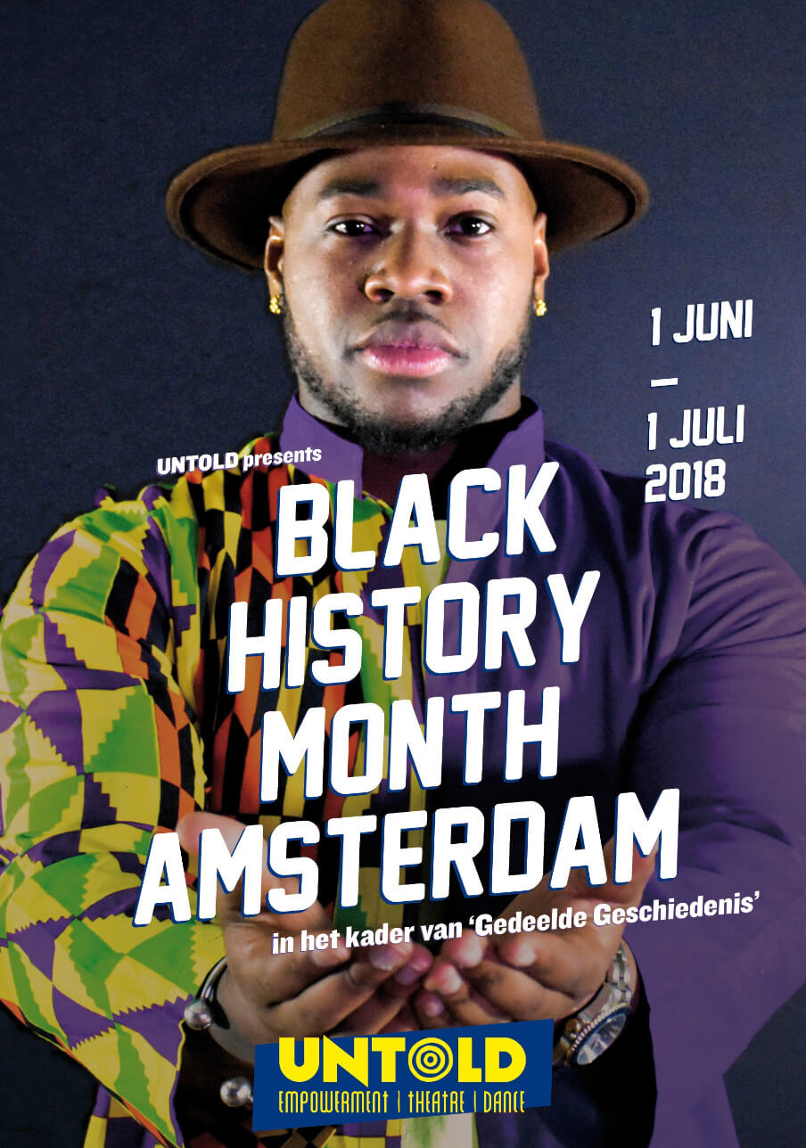 Black History Month Amsterdam Untold flyer